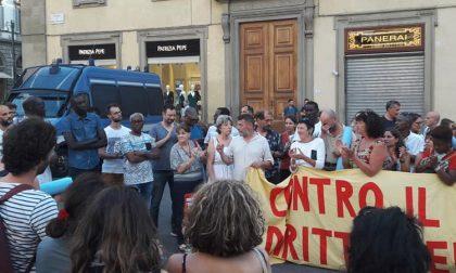 Presidio antirazzista a Firenze dopo gli spari contro un ragazzo di colore a Pistoia