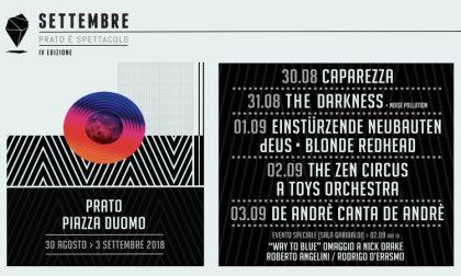 Prato, iniziato con il botto il festival di settembre