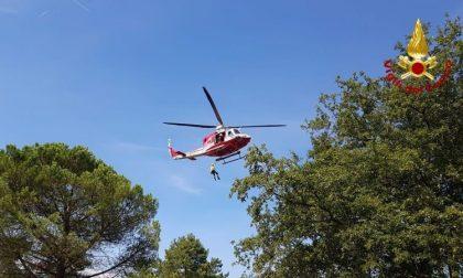 Disperso a Greve in Chianti: ritrovato con l'elicottero dei vigili del fuoco