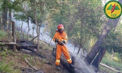 Incendio boschivo a Gricigliana