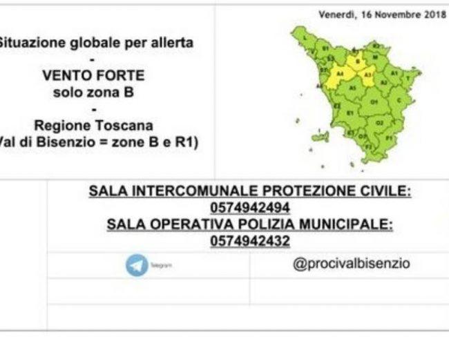 Avviso maltempo: codice giallo  in Toscana