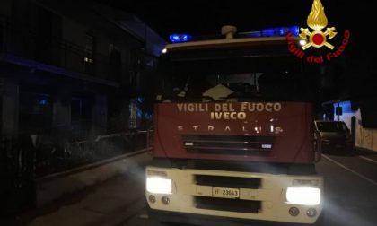 Incendio in una casa a Montecatini