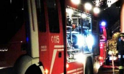 Camion a fuoco sulla A1