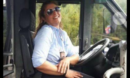 Romina, la prima donna a guidare l'autobus in Vallata