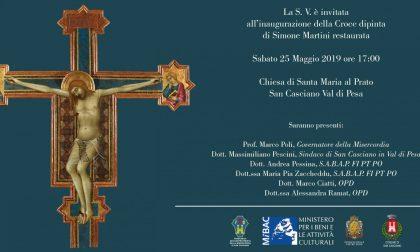 Grande ritorno: la Croce dipinta di Simone Martini restaurata