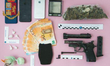 Controlli antidroga a Quarrata: la Polizia arresta due persone e sequestra una pistola e 1.700 euro