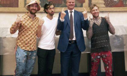 Imagine Dragons in visita agli Uffizi