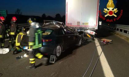 Incidente in A1, deceduto il conducente dell'auto