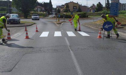 Partiti i lavori di rifacimento della segnaletica stradale