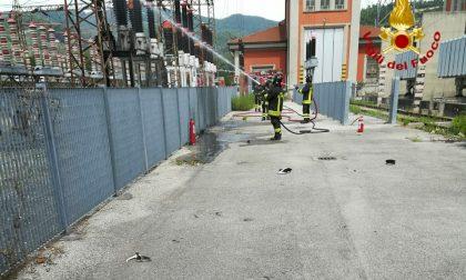 Trasformatore elettrico incendiato a Vaiano FOTO