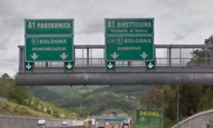 A1- Milano-Napoli, incidente nel tratto compreso fra Barberino e Calenzano in direzione Firenze