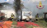 Incendio ad una roulotte distrutta nelle fiamme