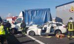 Incidente in A11 a Chiesina Uzzanese fra auto e furgone: lunghe code