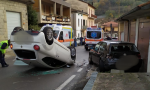 Auto ribaltata in un incidente