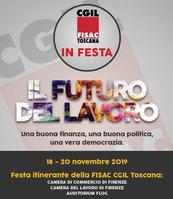 """Da lunedì la tre giorni della """"Festa Itinerante"""" della Fisac Cgil Toscana"""