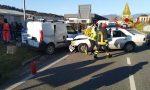 Incidente tra auto e furgone a metano