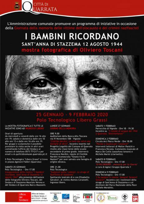 Quarrata, sabato 25 il via alla mostra di Oliviero Toscani per la Giornata della memoria