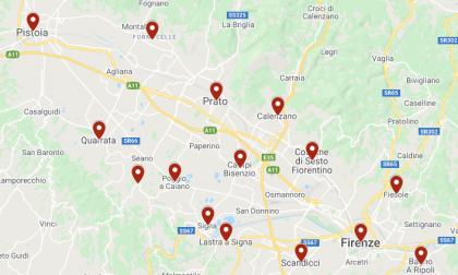 Coronavirus: 65 casi in Toscana centro. Ecco la mappa