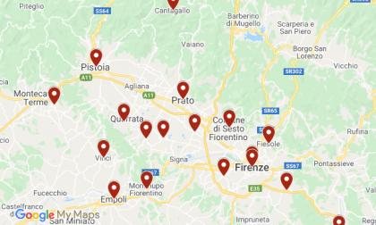 Coronavirus, ecco i casi positivi nelle province di Firenz,e Prato e Pistoia di oggi
