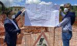 Lavori alla rotonda di Vaiano: il presidente della provincia fa visita al cantiere