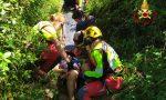 Brutta caduta per un ciclista a Sodarello