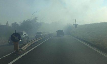 Incendio all'Osmannoro. Nube di fumo, ripercussioni sul traffico LE FOTO