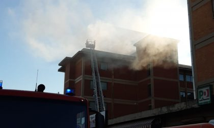 Principio d'incendio alle scuole Convenevole: LE FOTO