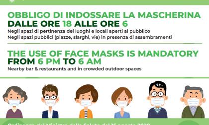 Uso della mascherina, firmata un'ordinanza che impone di affiggere il manifesto informativo in italiano e in inglese