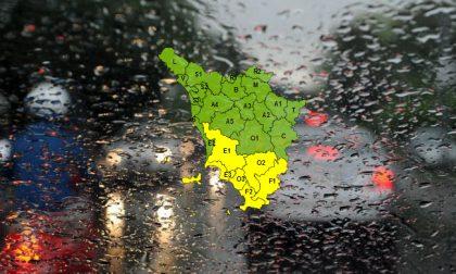 Pioggia e temporali, allerta gialla nel sud della Toscana fino a lunedì