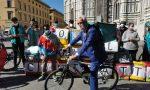 Riders, stamani biciclettata e presidio a Firenze in piazza Duomo: VIDEO E FOTO