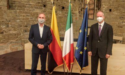 Il parlamentare tedesco Ebbing in visita agli Uffizi