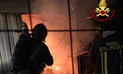 Brucia capanna a Montevarchi: LE FOTO