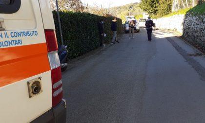 Scontro tra auto e moto vicino alla scuola materna di Sofignano LE FOTO
