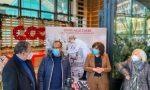 """Eugenio Giani e Carlo Conti alla consegna della raccolta fondi alla Coop di Novoli per """"Toscana Life Sciences"""""""