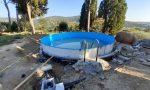 Fiesole: monta una piscina in un giardino storico, denunciato