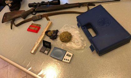 Droga, fucile e refurtiva trovati in casa di un 29enne a Vernio dai carabinieri di Vaiano