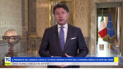 Il presidente del Consiglio invia un videomessaggio ai lavoratori di Poste Italiane per il lavoro svolto