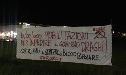 "Striscione shock all'Osmannoro: ""impedire il governo Draghi"""