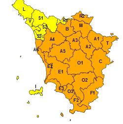 Allerta arancione per neve fino a bassa quota in quasi tutta la Toscana fino alle 10 del 13 febbraio