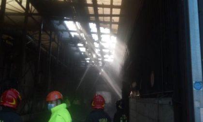 Principio d'incendio al tetto dell'impianto di Compostaggio di Case Passerini