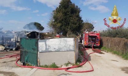 Incendio vicino all'ospedale di Prato