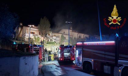 Incendio in via Ettore Majorana a Montemurlo