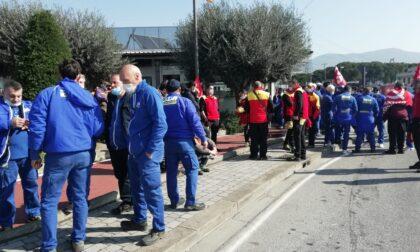 Sciopero della logistica, presidio a Pratignone per tutta la mattina