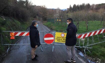 Frana sulla Fipili di Lastra a Signa, Forza Italia all'attacco sui lavori che non partono