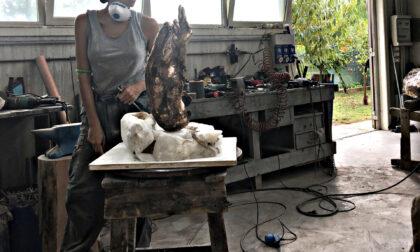 Presentata questa mattina a Prato la scultura di Elisa Morucci dedicata a Paolo Rossi