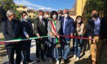 Inaugurato il completamento del restauro di un tratto delle antiche mura di Lastra a Signa e la riqualificazione del giardino interno