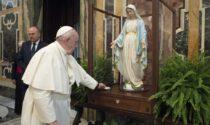 Dopo Vaiano prosegue il pellegrinaggio di Maria. L'immagine benedetta da papa Francesco arriva alla Pietà