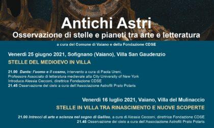 Antichi Astri, stelle e pianeti tra arte e letteratura: due appuntamenti dedicati a Dante e Galileo. Il primo il 25 giugno