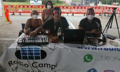 La redazione di Bisenziosette e Radio Campi al presidio Gkn: i video degli interventi
