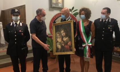 """È tornata a Malmantile la """"Madonna col bambino"""" rubata 40 anni fa a Marliano"""